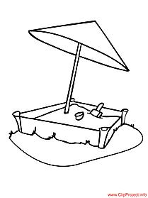 Sandbox image coloring page