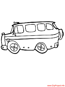School bus coloring free