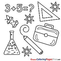 School Math printable Coloring Sheets download