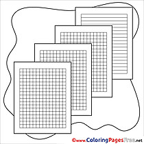 School Paper free printable School Coloring Sheets