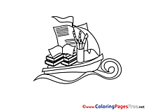 Ship Knowledge for free Coloring Pages download