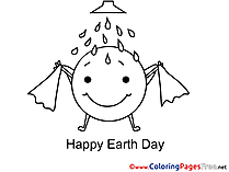 Shower Happy Earth Day Coloring Sheets download