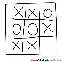 Tic-tac-toe download Colouring Sheet free