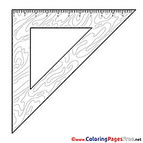 Triangle Children download Colouring Page