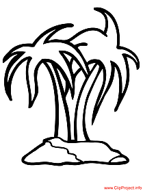 Island coloring page for free