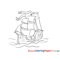 Battleship Kids free Coloring Page