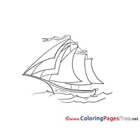 Brig Colouring Sheet Boat download free