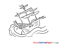 Caravel Coloring Sheets Ship download free