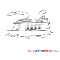 Cruise Ship Coloring Pages for free