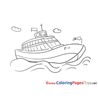 Cruise Ship printable Coloring Sheets download