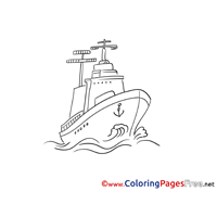 Cruiser for Children Ship free Coloring Pages