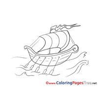 Roawing Boat download printable Coloring Pages