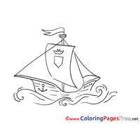Ship Children Coloring Pages free