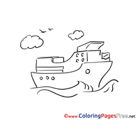 Ship for Kids printable Colouring Page