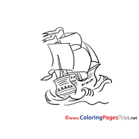 Ship free printable Coloring Sheets