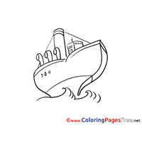Tanker Colouring Page Ship printable free
