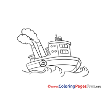 Tug Coloring Pages Ship for free