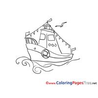 Vessel free Colouring Page download