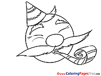 Celebration Kids Smiles Coloring Pages
