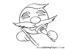 Eating for Kids Smiles Colouring Page