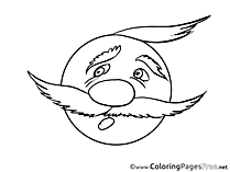 Fright printable Smiles Coloring Sheets