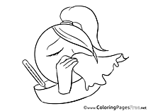 Illness Colouring Page Smiles free