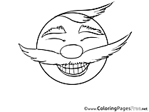 Laugh Colouring Page Smiles free
