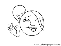 OK Kids Smiles Coloring Page