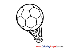 Air Balloon Ball Colouring Page Soccer free