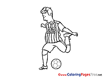 Attack Player Kids Soccer Coloring Pages