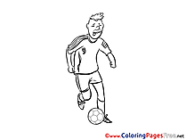 Attack Player printable Soccer Coloring Sheets
