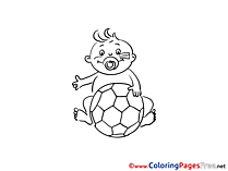 Baby Sport Soccer free Coloring Pages