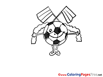 Ball free Colouring Page Soccer