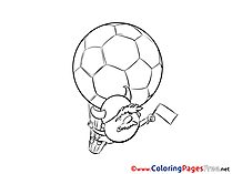Balloon Viking Fan download Soccer Coloring Pages
