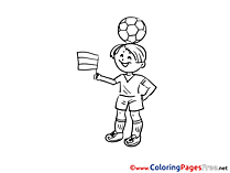 Boy Soccer Coloring Pages free