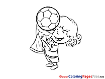 Champion Boy Cup printable Soccer Coloring Sheets
