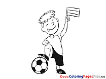 Children Soccer Colouring Page Boy Ball Coloring Sheets free