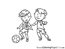 Children Soccer free Coloring Pages