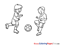 Competition Football Soccer Colouring Sheet free