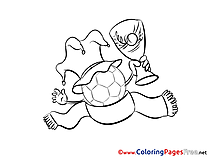 Cup Ball Fan printable Soccer Coloring Sheets