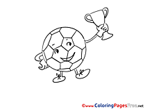 Cup Ball free Colouring Page Soccer