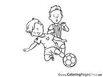Defender Ball free Colouring Page Soccer