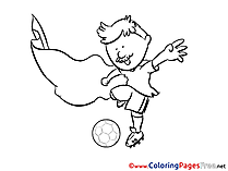 Defender Footballer Colouring Sheet Soccer