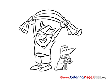 Dog Fans Viking printable Coloring Pages Soccer