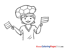 Fan Colouring Page Soccer free