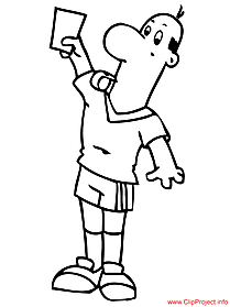 Football coloring sheet  referee