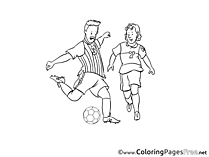 Football Coloring Sheets Soccer free