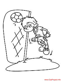 Football image to coloring goal