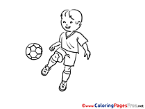 Footballer Colouring Sheet download Soccer