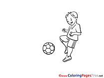 Footballer printable Coloring Pages Soccer